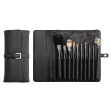 PF0098-10P 10-pc make-up brush set w/ cosmetic bag